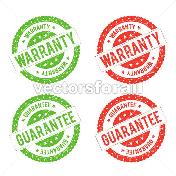 Grunge Warranty Seal Stamp - Vectorsforall