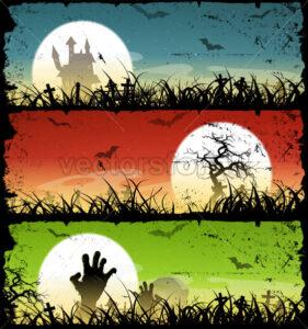 Halloween Backgrounds Set - Vectorsforall