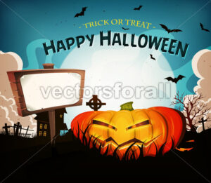Halloween Holidays Landscape Background - Vectorsforall