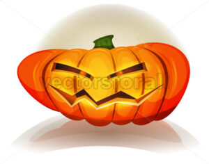 Halloween Pumpkin Character - Vectorsforall