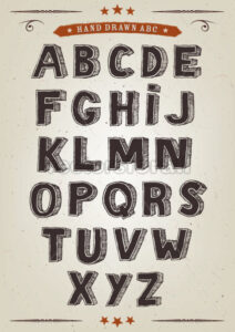 Hand Drawn Elegant Alphabet Set - Vectorsforall