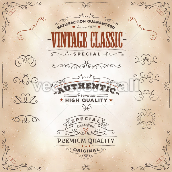 Hand Drawn Vintage Banners And Ribbons - Vectorsforall