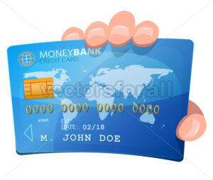 Hand Holding Credit Card - Vectorsforall