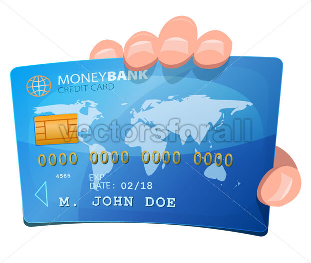 Hand Holding Credit Card - Vectorsforall