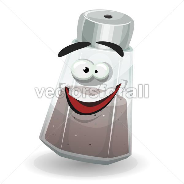 Happy Black Pepper Shaker Character - Vectorsforall