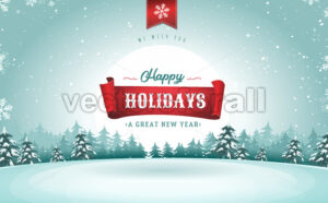 Happy Holidays Greeting Card - Vectorsforall