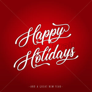 Happy Holidays Lettering Greeting Card - Vectorsforall