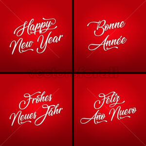 Happy New Year In Multiple Languages - Vectorsforall