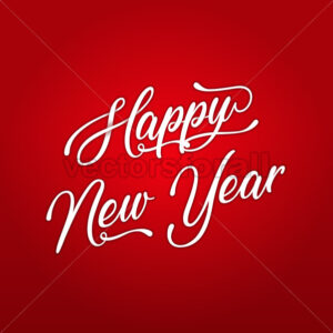 Happy New Year Lettering Card - Vectorsforall