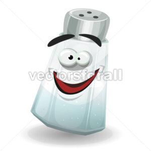 Happy Salt Shaker Character - Vectorsforall