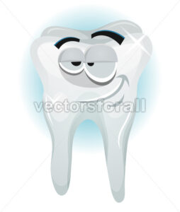 Happy Tooth Character Smiling - Vectorsforall