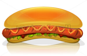 Hot Dog Burger Icon - Vectorsforall