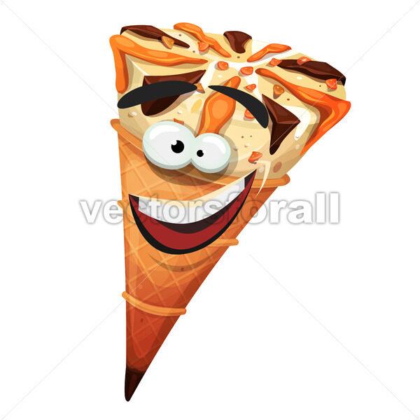 Ice Cream Cone Character - Vectorsforall