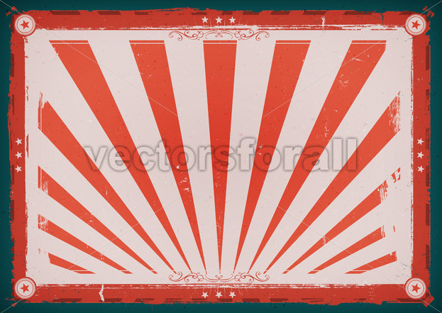 Independence Day Vintage Horizontal Poster - Vectorsforall