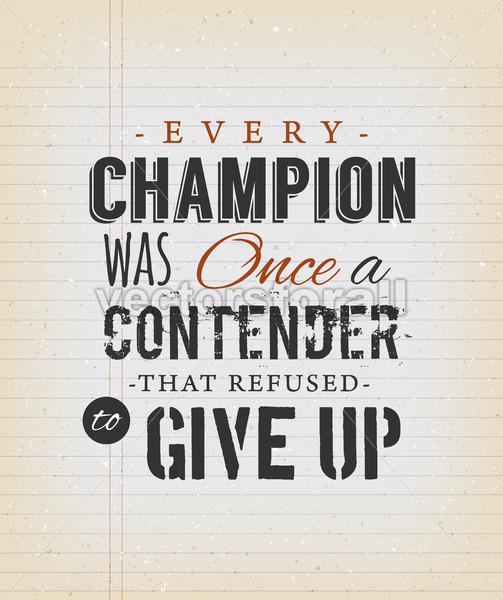 Inspirational Quote On Vintage School Paper - Vectorsforall