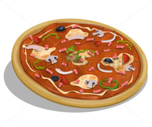 Italian Pizza - Vectorsforall