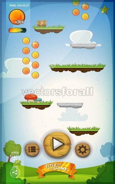 Jump Game User Interface Design For Tablet - Vectorsforall