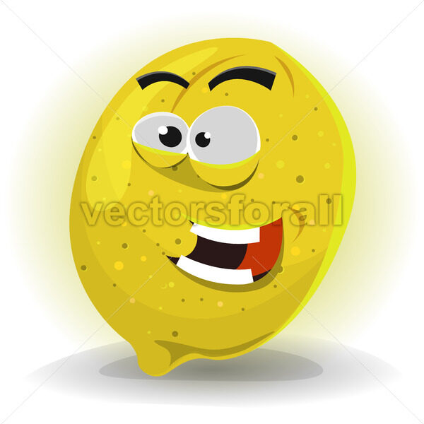 Lemon Fruit Character - Vectorsforall