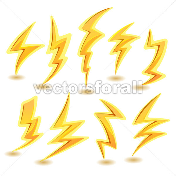 Lightning Bolts Set - Vectorsforall