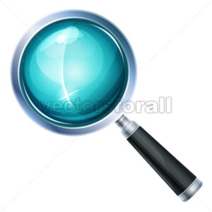 Magnifying Glass Icon Isolated - Vectorsforall