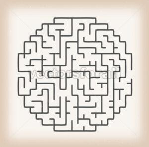 Maze Game On Vintage Background - Vectorsforall