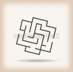 Maze Symbol On Vintage Background - Vectorsforall
