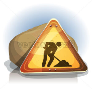 Men At Work Road Sign - Vectorsforall