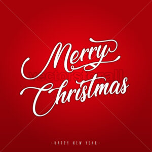 Merry Christmas Lettering Greeting Card - Vectorsforall