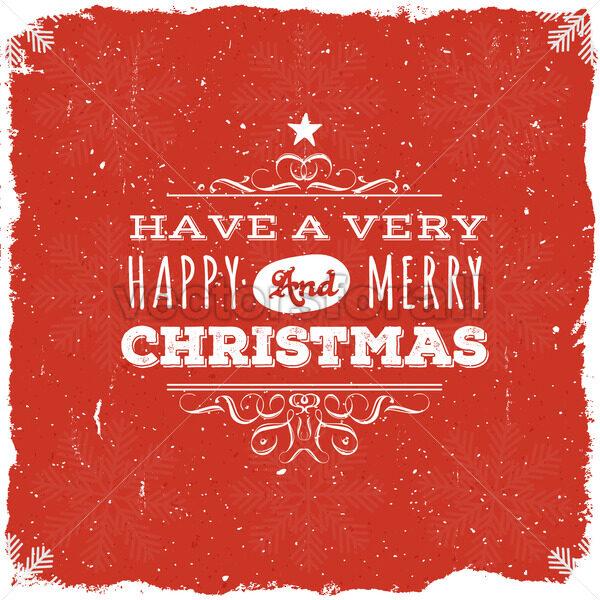 Merry Christmas Postcard - Vectorsforall