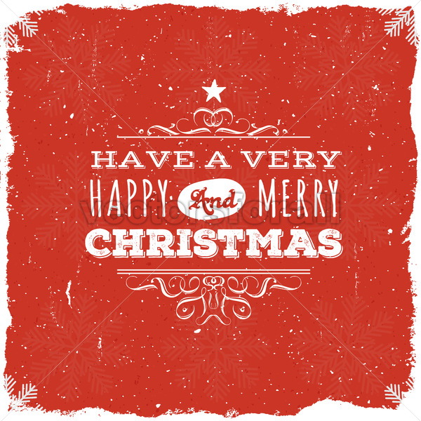 Merry Christmas Postcard - Vectorsforall