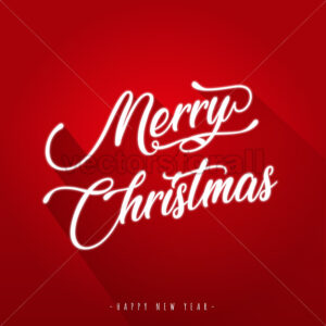 Merry Christmas with and Flat Design - Vectorsforall
