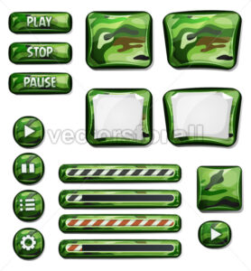 Military Camo Icons Elements For Ui Game - Vectorsforall