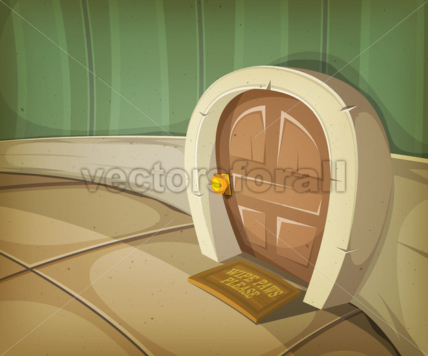 Mouse Home Inside House - Vectorsforall