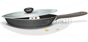 Mouse Or Cat Inside Kitchen Stove - Vectorsforall