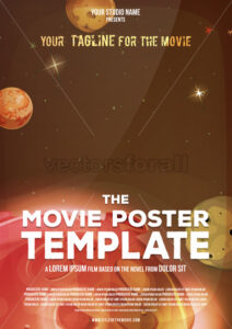 Movie Poster Template - Vectorsforall