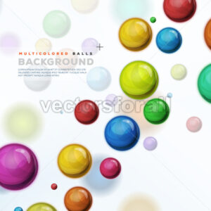 Multicolored Balls, Balloons And Pills Background - Vectorsforall