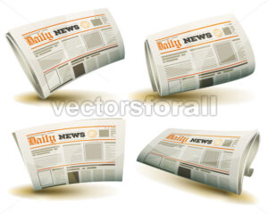 Newspaper Icons Set - Vectorsforall