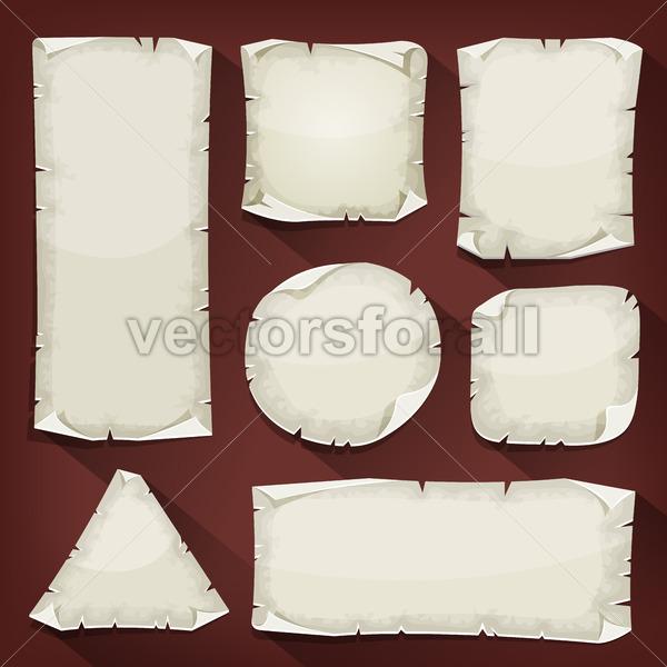 Old Torn Paper Set - Vectorsforall
