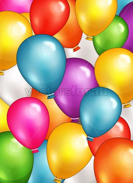 Party Balloons Background - Vectorsforall