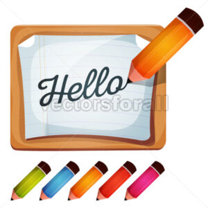 Pencil Drawing Word On Blank Sign - Vectorsforall