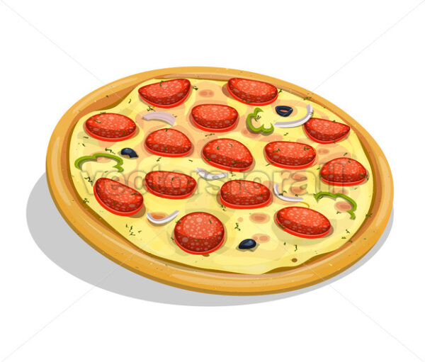 Pepperoni Pizza - Vectorsforall