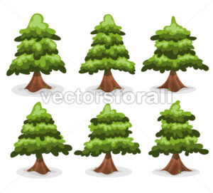 Pine Trees And Firs Collection - Vectorsforall