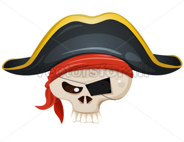 Pirate Skull Head - Vectorsforall