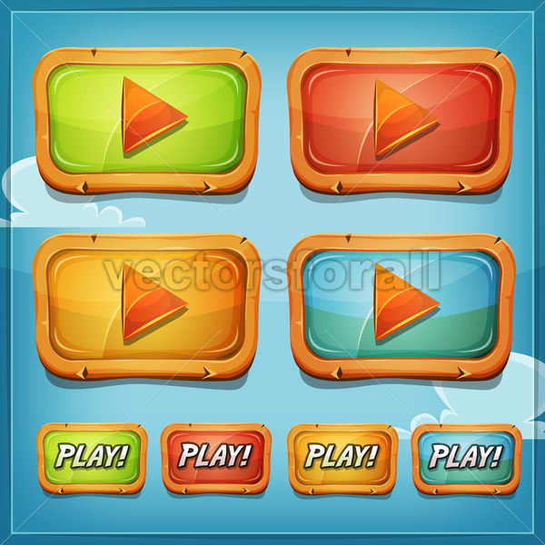 Play Buttons And Icons For Game Ui - Vectorsforall