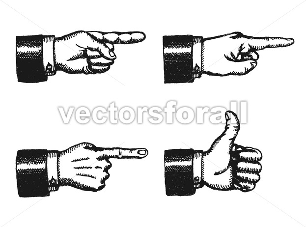 Pointing Finger And Thumbs Up Sign - Vectorsforall