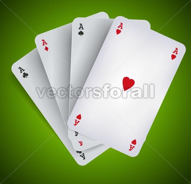 Poker Aces – Casino Gambling - Vectorsforall