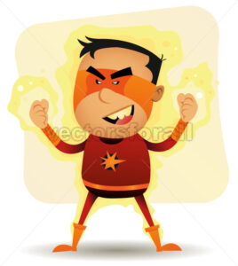 Power Boy – Comic Superhero - Vectorsforall