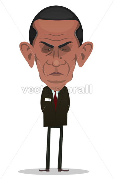 President Obama Character - Vectorsforall