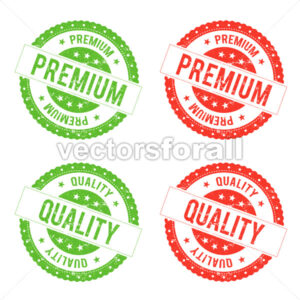 Quality Premium Seal Stamp - Vectorsforall
