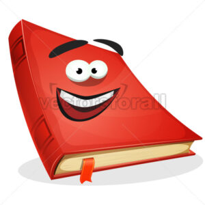 Red Book Character - Vectorsforall